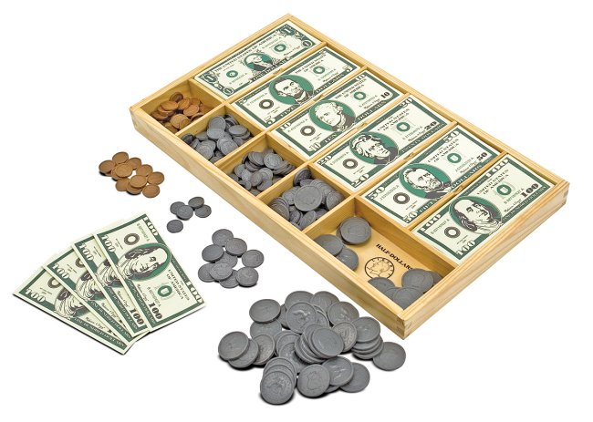 1273�Melissa & Doug Play Cash Drawer Money Set | 1273