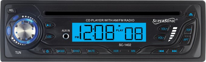 SC-1402�SUPERSONIC SC-1402 CD AM/FM Radio Car Audio Player