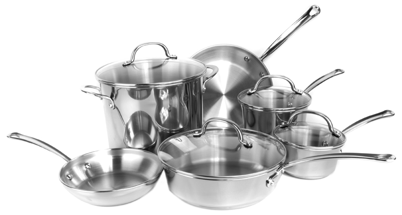 Farberware Millennium 10-Piece Kitchen Cookware Set (Stainless Steel) | 75653