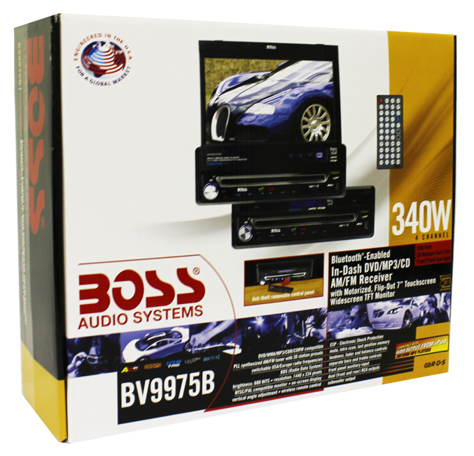 "BV9985�Boss Bluetooth 7"" InDash Monitor 