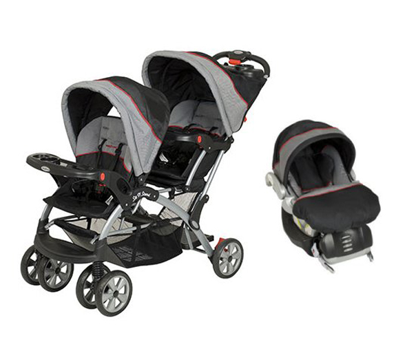 SS76773 + CS31773�Baby Trend Sit N Stand Double Travel System (Millennium) | SS76773 + CS31773