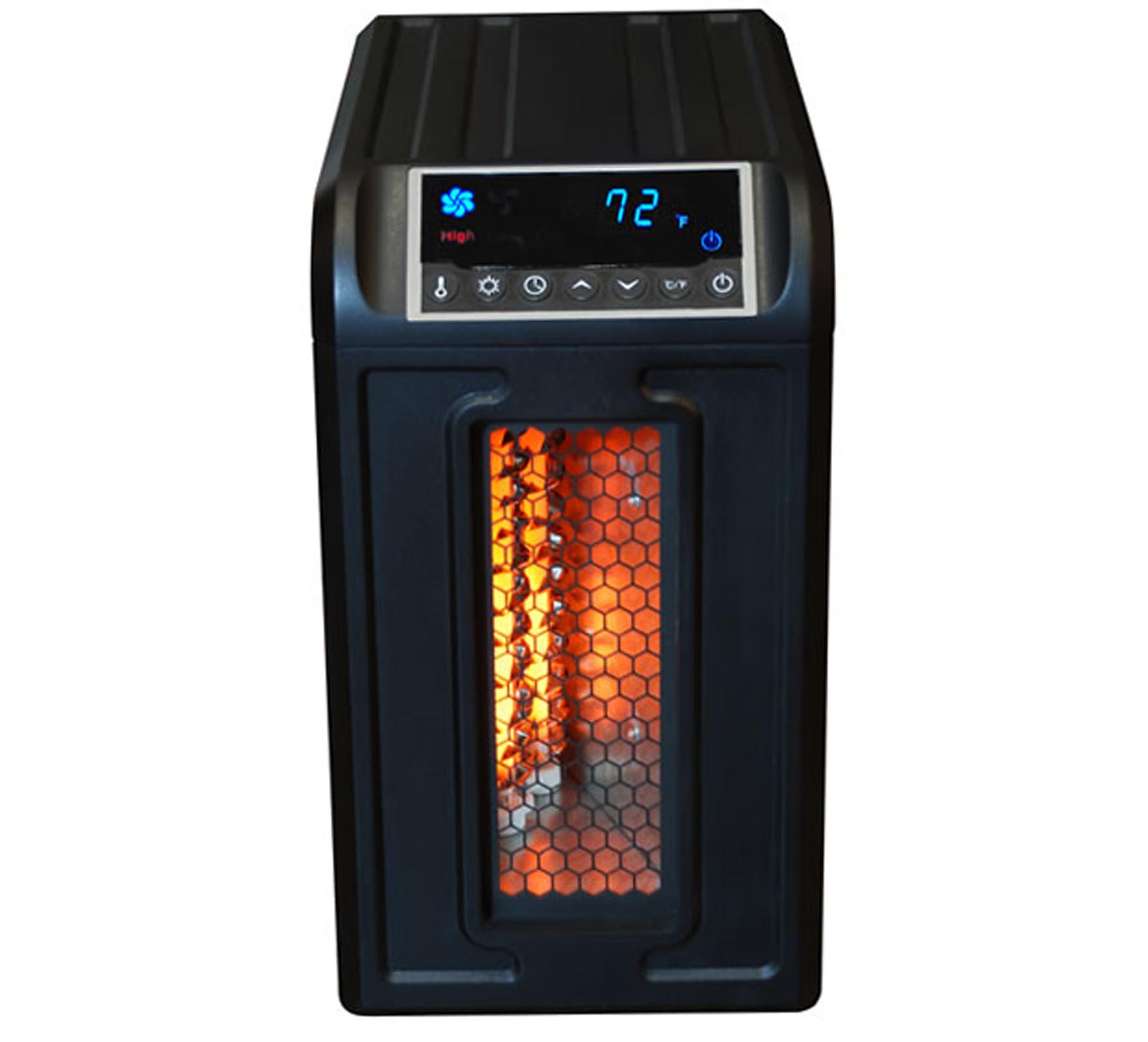 LS-3ECO�LifeSmart Low-Profile Infrared Portable Heater (Black) | LS-3ECO