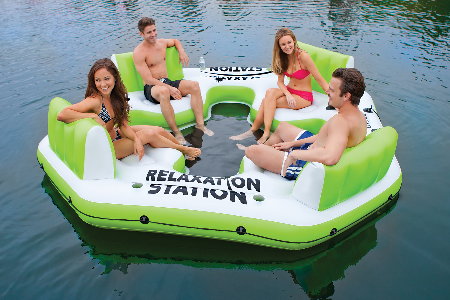 58296EP�Intex Relaxation Station 4-Person Water Lounge Raft - Green | 58296EP