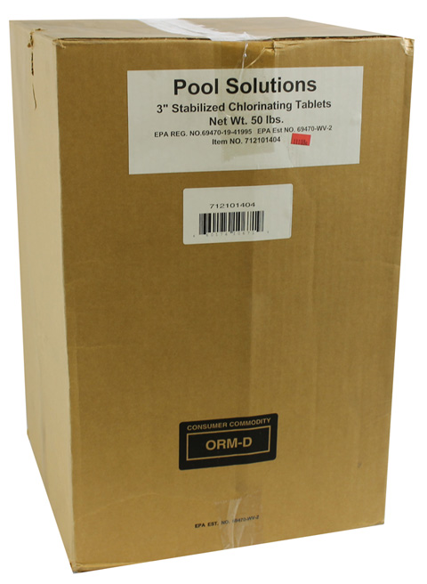 P27050DE�Pool Solutions 3-Inch Wrapped Chlorine Tablet Swimming Pool 50 lbs