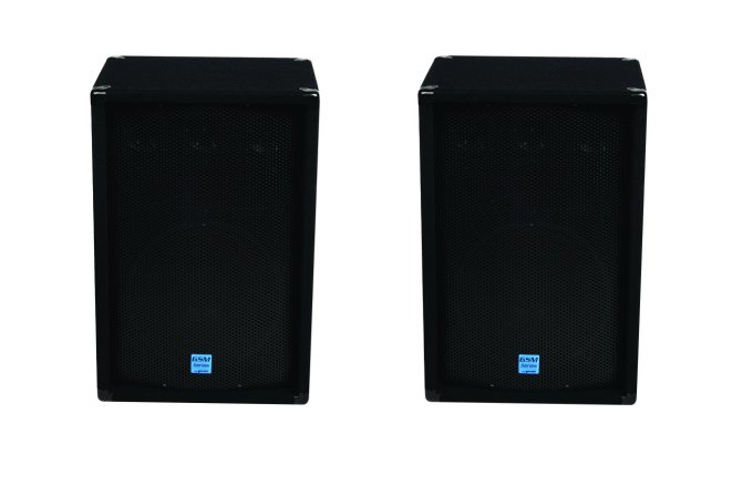 "GSM-1260�Gemini GSM1260 12"" 800W Pro DJ Stage Speakers w/ 3-Way Passive Crossovers (Pair)"