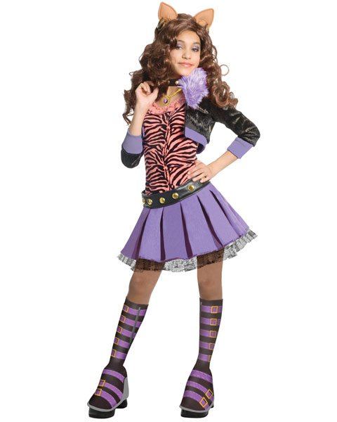 Monster high clawdeen wolf girls deluxe halloween costume large