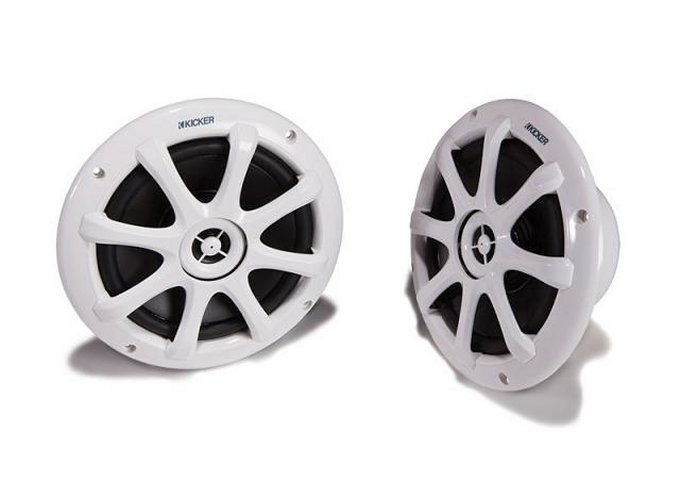 09KM6000�Kicker KM6000 6-Inch Marine/Boat 2-Way 150W Speakers (White)