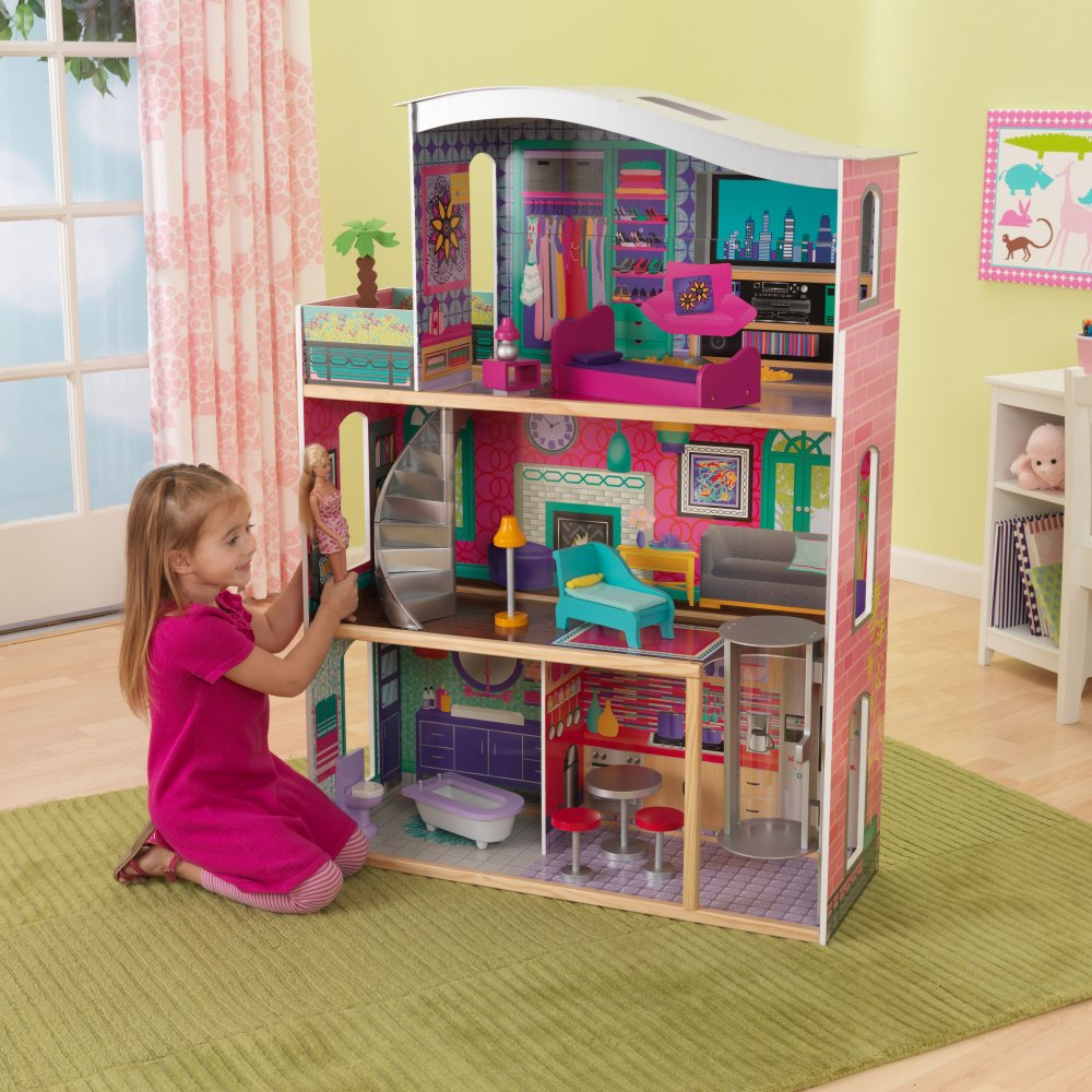 KidKraft Glitter Dream Wood Dollhouse | 65086