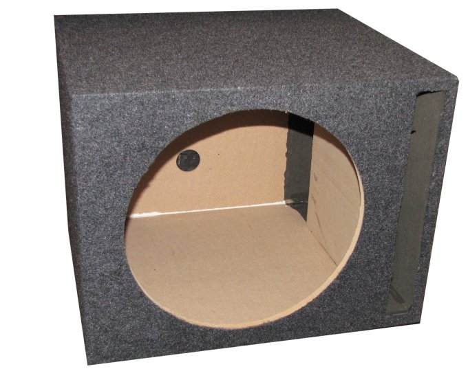 "Q-Power Single 15"" Ported Subwoofer Box"