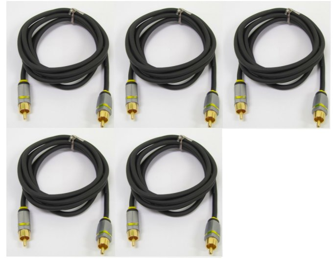 5 x VRX31R�(5) Phoenix Gold PG300 Rca Component Video Cable Tv/dvd