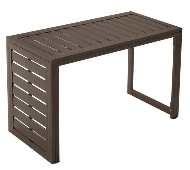 Cosco Smartfold Metal Outdoor Furniture Folding Slat Convertible Table