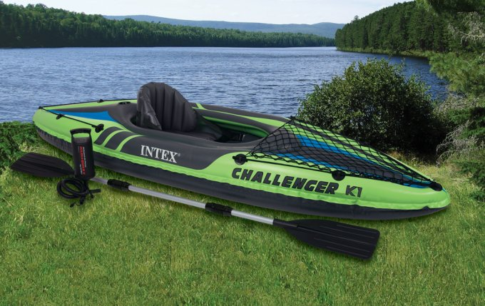 68305EP�INTEX Challenger K1 Inflatable Kayak Kit with Pump