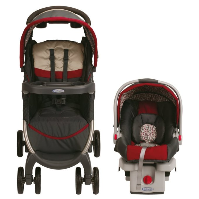 1843903�Graco FastAction Stroller & SnugRide Car Seat Travel System - Finley