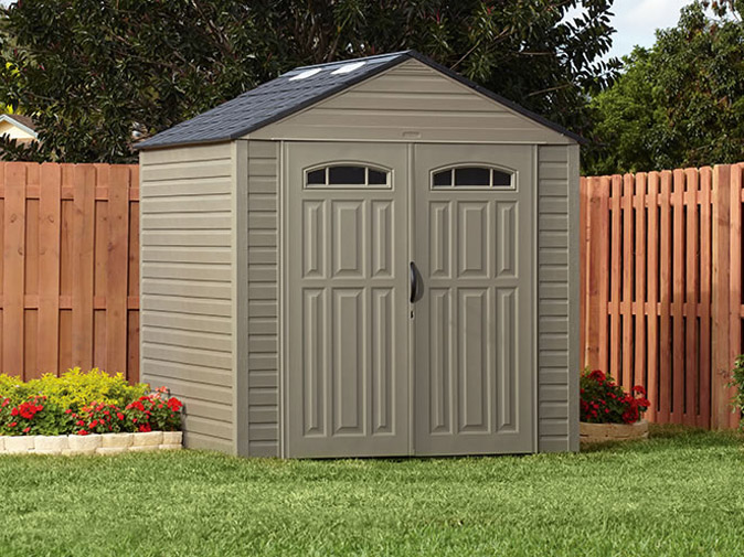 5H80 Rubbermaid Roughneck XL 7'x7' Outdoor Storage Shed   5H80