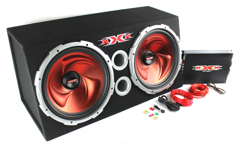 "XBX1500�XXX 15"" Dual Subwoofers, Amplifier, Amp Kit & Box 
