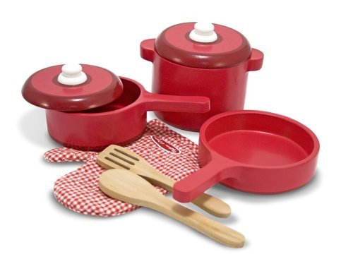 2610�Melissa & Doug Kids Play Kitchen Accessory Pot & Pans Set | 2610