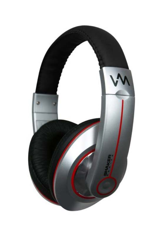 VM Audio On-Ear DJ Headphones (Red & Black) | SRHP6