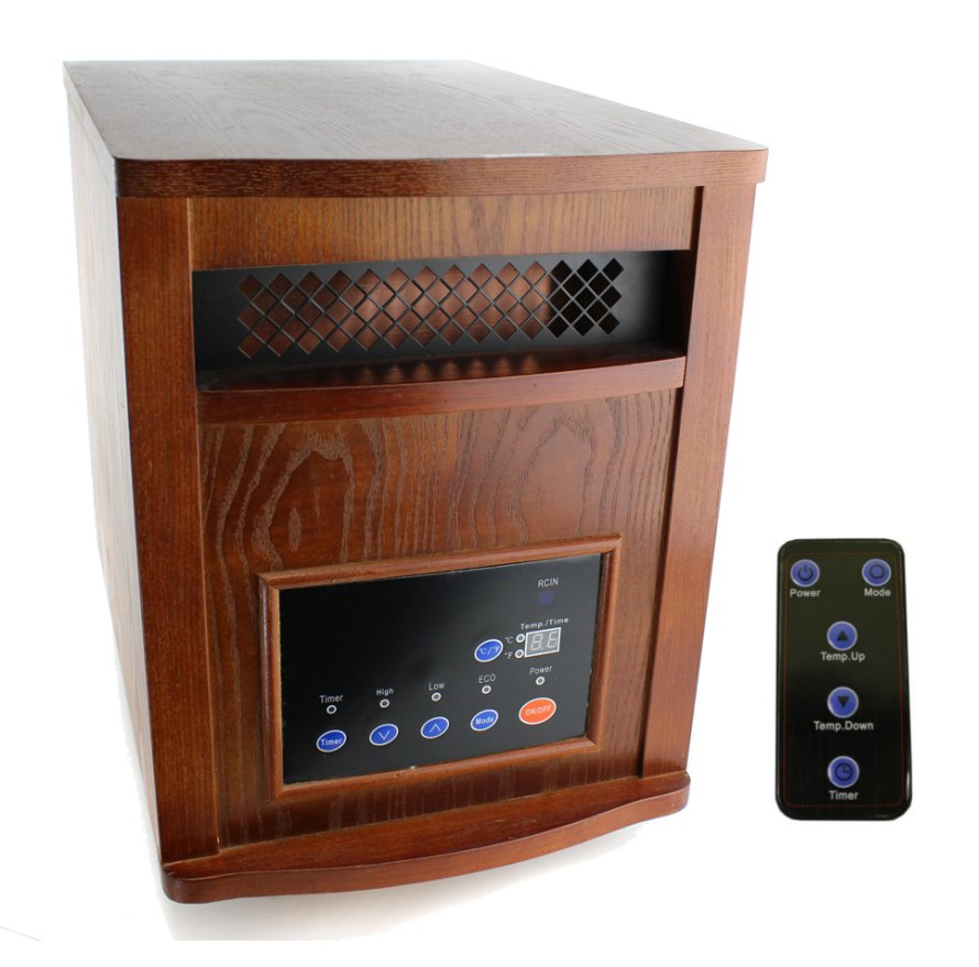 LS-PP1500-6-HOM�LifeSmart Power Plus Infrared Quartz Heater | LS1500-6