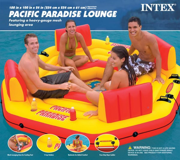 58286E�Intex Pacific Paradise Lounge Island River Tube | 58286E