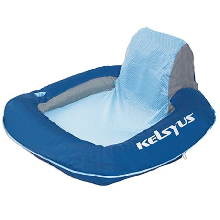 Kelsyus floating inflatable pool chair blue 80035 vminnovations