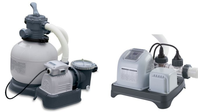28647EG(56673EG) + 28661EG(54605EG)�Intex 2800 GPH Krystal Clear Sand Filter Pool Pump & Saltwater System