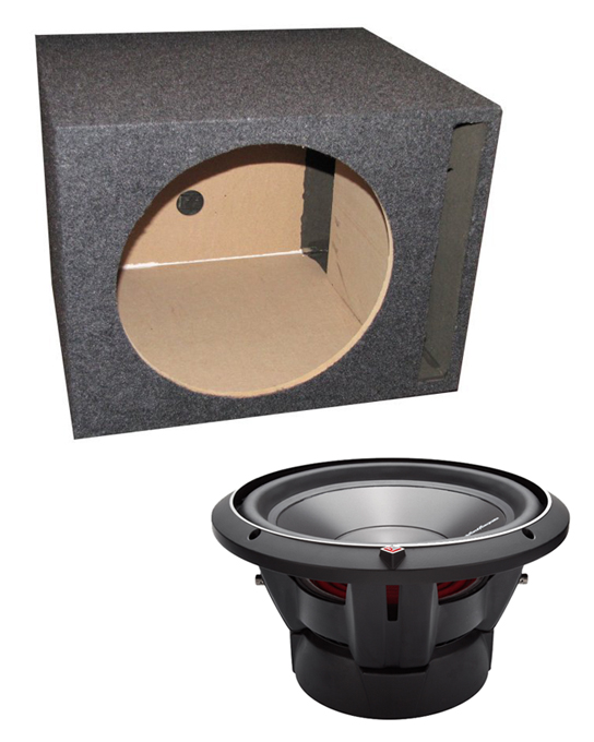 P3D2-12 + QSBASS12�Rockford Fosgate P3D2-12 12-Inch 1200 Watt Car Audio Subwoofer and Single Subwoofer Box