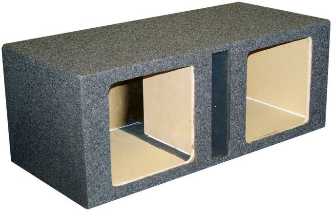 QBASS12SQ�KICKER Dual 12-Inch Ported Subwoofer Box for L5 & L7