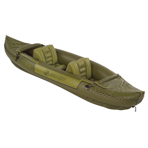 Sevylor Tahiti 2 Person Fishing Inflatable Kayak Boat
