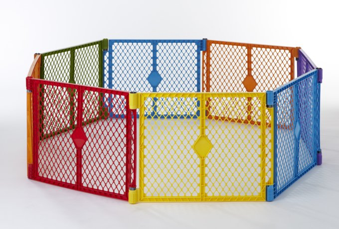 North States Color Superyard Baby/Pet Gate & Portable Play Yard - 8 Panel