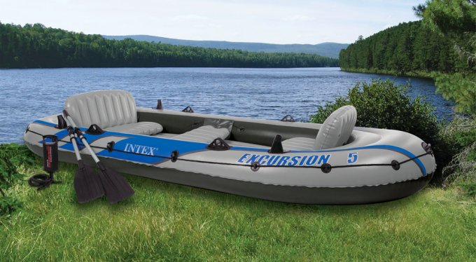 Intex Excursion 5 Inflatable Boat Set | 68325EP