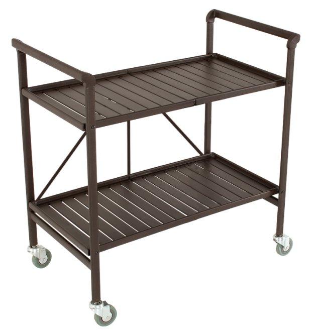 87501SBDE COSCO Smartfold Metal Outdoor Furniture Folding Serving Cart