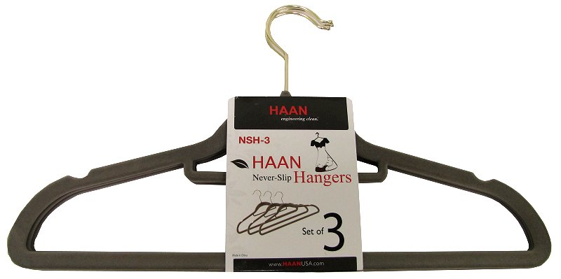 24 x Hangers-3pk�Slim Hangers by Haan - Flocked Non Slip Space Saving Hangers (72 Pack)