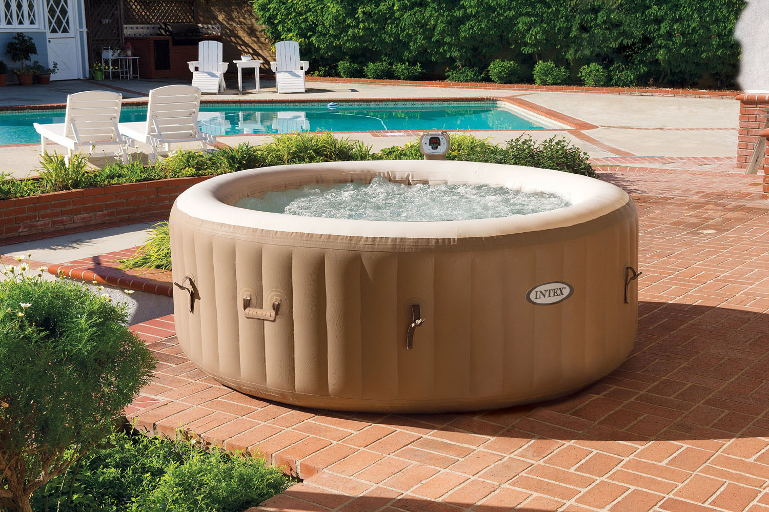 28403E�Intex Hot Tub PureSpa Bubble Therapy Inflatable Spa