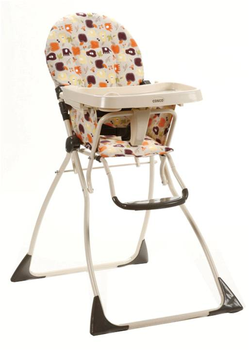 03354ALK�Cosco Flat Fold High Chair (Fruity Jungle)