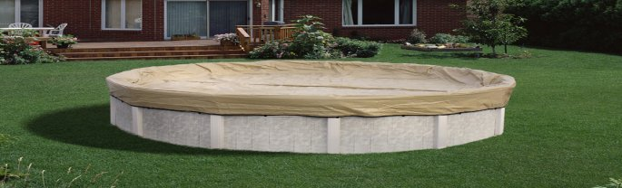 AK1530OV4�Armor Kote 15x30 Tan Winter Oval Above Ground Swimming Pool Cover