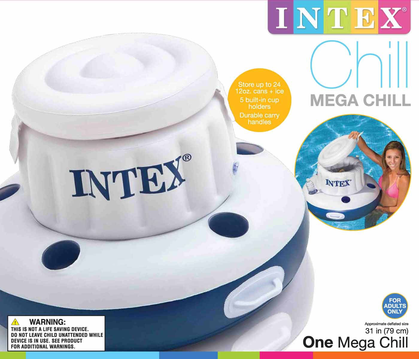 58820EP�Intex Mega Chill Inflatable Floating Beverage Cooler | 58820EP