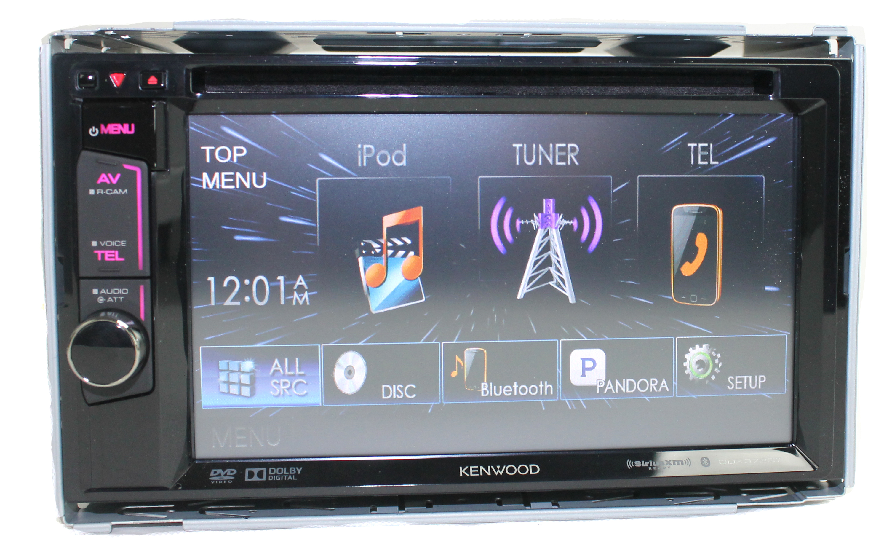 Kenwood DDX372BT Touchscreen Bluetooth Double Dvd CD Player Stereo Receiver