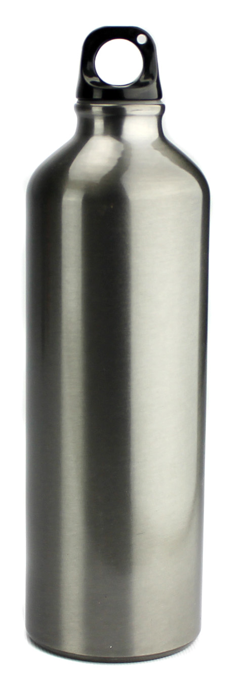 Aluminum A1017 25 Oz (750ml) Water Bottle - Silver