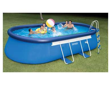 Intex Oval Frame Pool Set, 20-Feet by 12-Feet by 48 (Discontinued by Manufacturer)