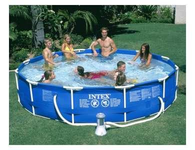 Intex 12'x30 Metal Frame Set Above-Ground Pool (28211EG : 28211EH)