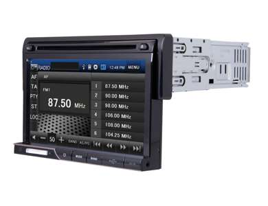 PD710BPower Acoustik 7-Inch Touch Screen CD/DVD/MP3 Player + Bluetooth | PD-710B
