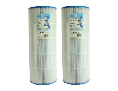 2 Unicel C-8412 Replacement Pool Filters : C8412