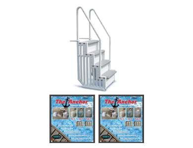 Confer Pool Ladder Steps W 2 Sand Weights Step 1 2 X