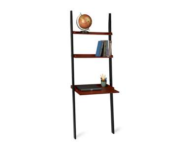french country leaning ladder bookcase wall desk shelf. Black Bedroom Furniture Sets. Home Design Ideas