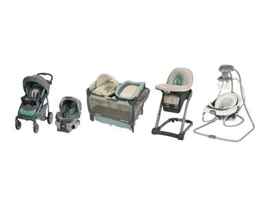 Graco Winslet Stroller, Seat, Pack n Play Playard, High