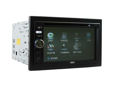 VM9125Jensen VM9125 6.2-Inch Double-DIN LCD Touchscreen Multimedia Receiver