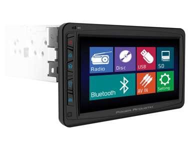 "PD712BPower Acoustik 7"" TouchScreen CD/DVD/MP3 Car Player + Bluetooth | PD-712B"