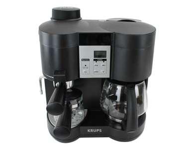 Krups Coffee Maker Xp1600 : Krups XP1600 Coffee Maker and Steam Espresso Machine Combination, Black (Refurbished) : XP160050 ...