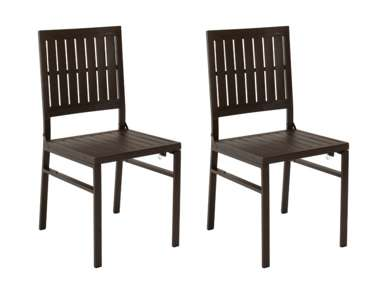 smartfold metal outdoor furniture folding slat dining chair set of 2