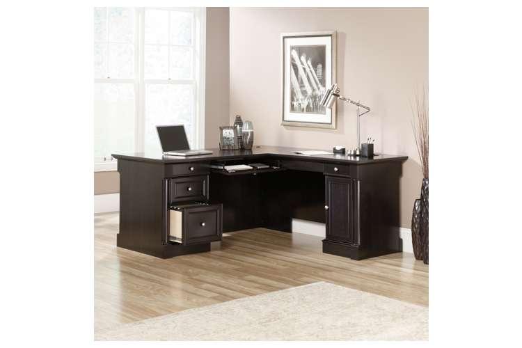 Sauder Furniture Avenue Eight L Shaped Black Oak Executive